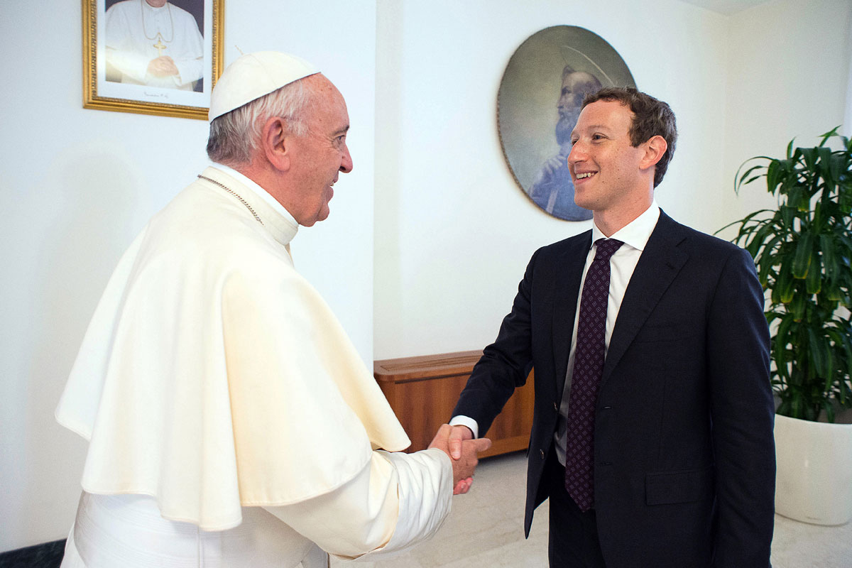 основатель Facebook и Франциск