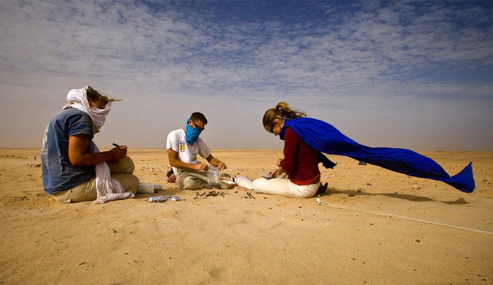пустынные бури в пустыне Сахара, фото