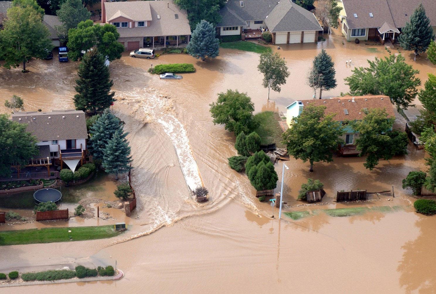 Затопленный район