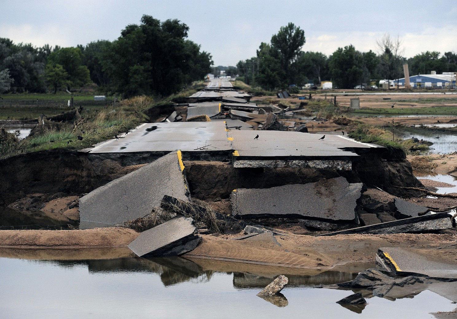разбитое шоссе