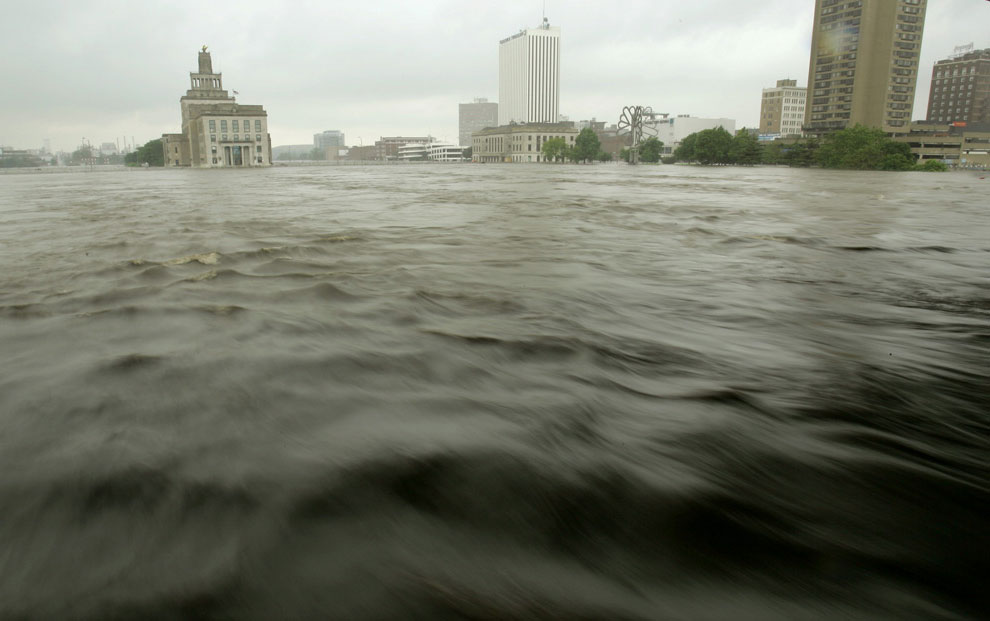 река затопила штат Айова