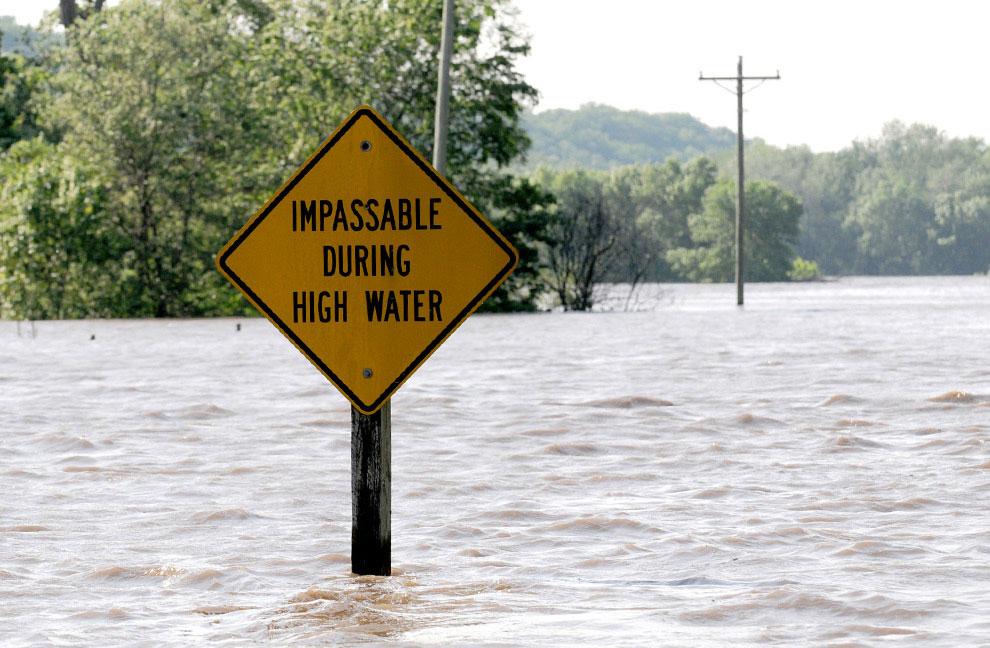 уровень воды в США поднимается