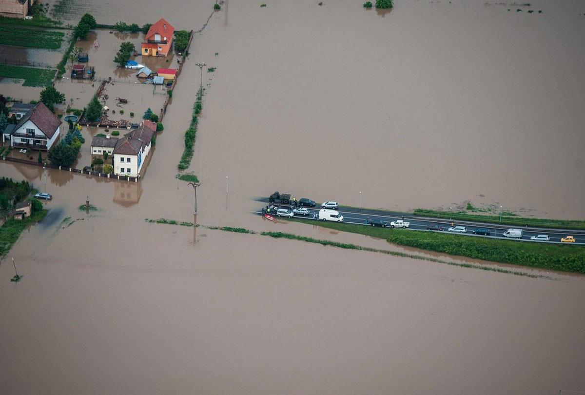 Чешский городок Терезин затоплен