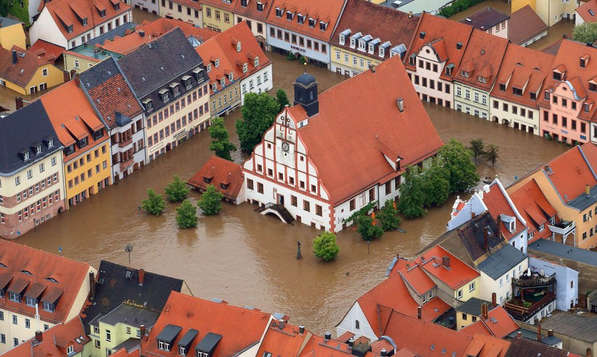 Мэрия города Гримма пострадала от наводнения