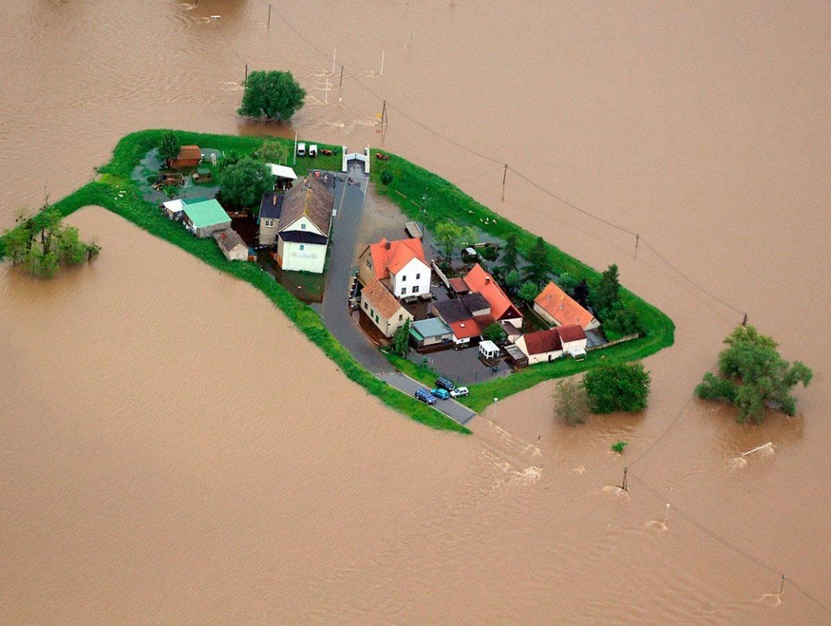 Немецкий городок Айленбург затоплен