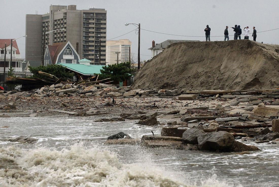 ущерб от урагана, фото стихийного бедствия в Нью-Йорке