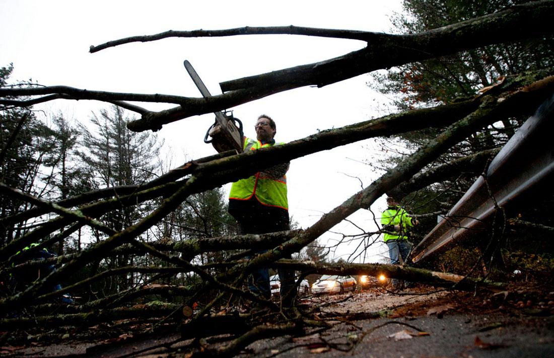 расчистка дорог, фото стихийного бедствия в Нью-Йорке