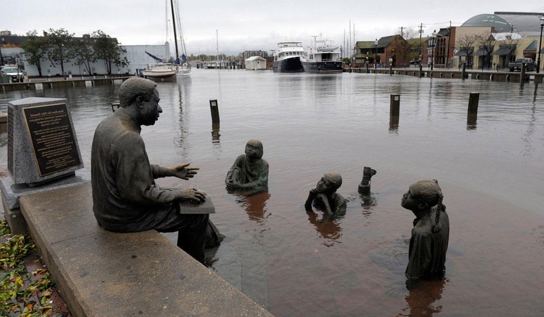 Центр города Аннаполис, фото стихийного бедствия в Нью-Йорке