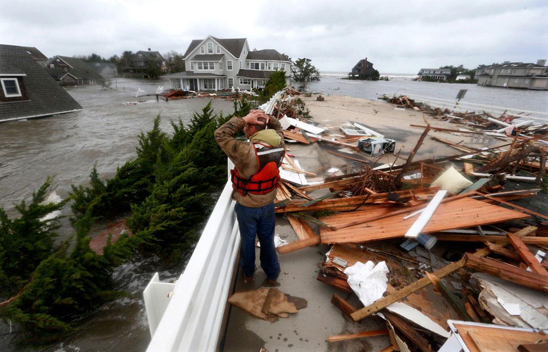страшные последствия после шторма Сэнди, фото стихийного бедствия в Нью-Йорке