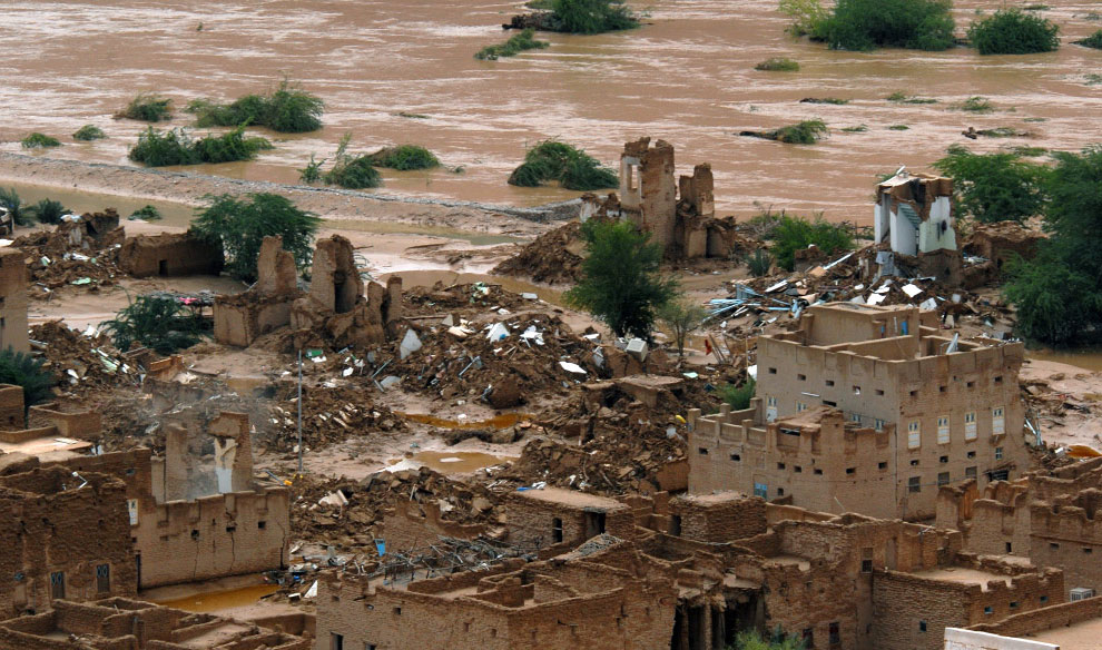 рухнувшие здания Хадрамаута, Йемен, фото