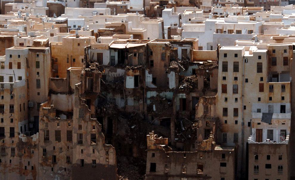 разрушения в Хадрамауте, Йемен, фото
