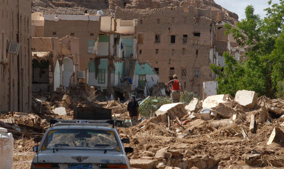 руины деревни, Йемен, фото