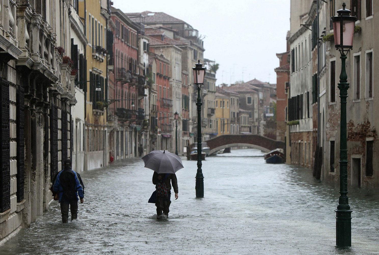 сезонные паводки Венеции, фото