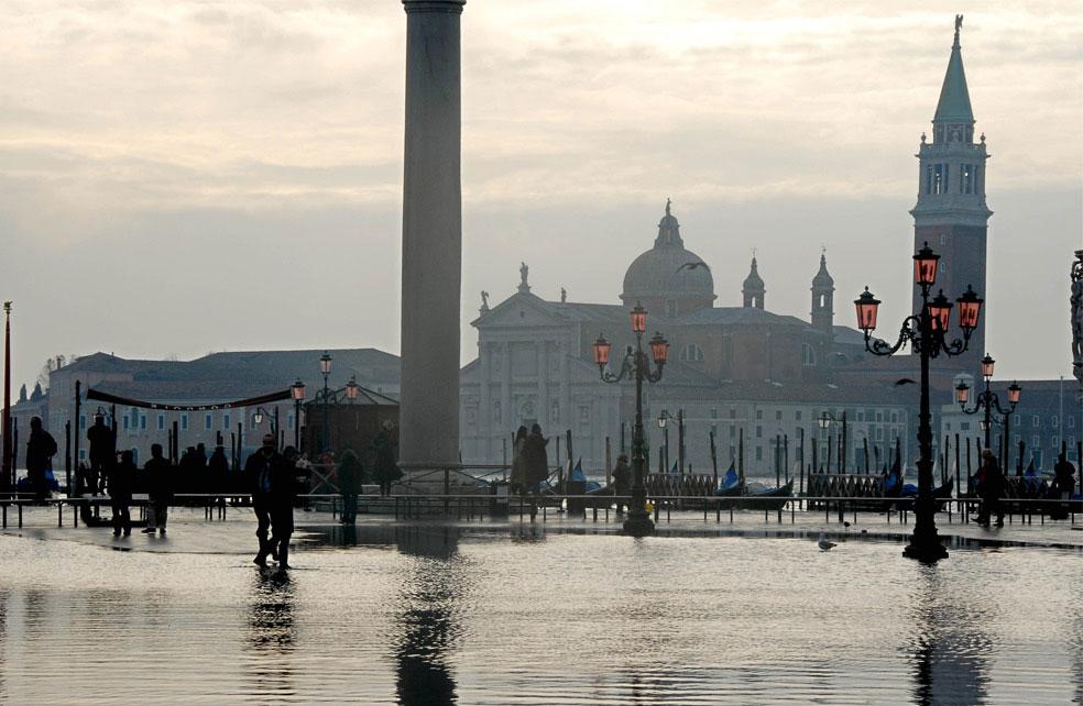 площадь Сан-Марко после ливней, Венеция, фото
