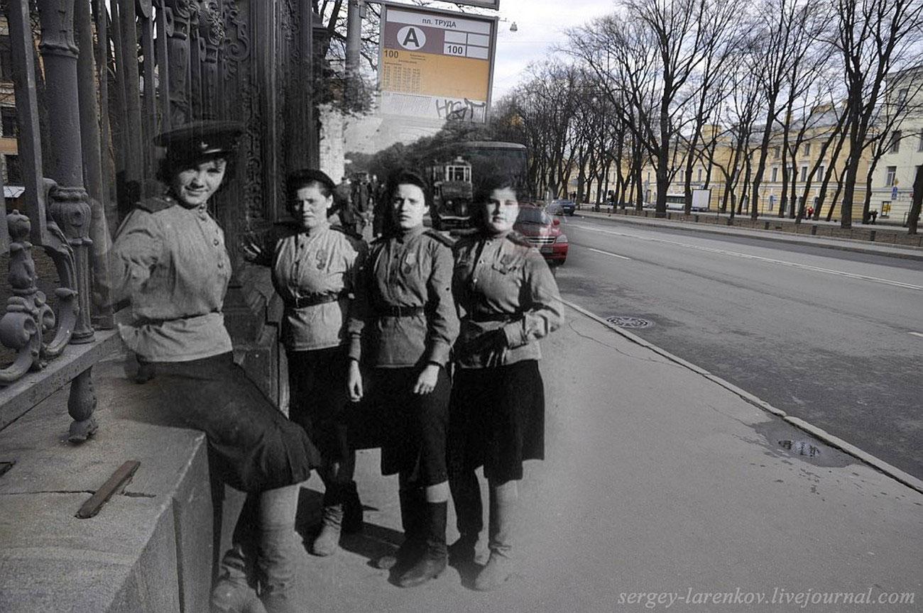 Девушки бойцы МПВО