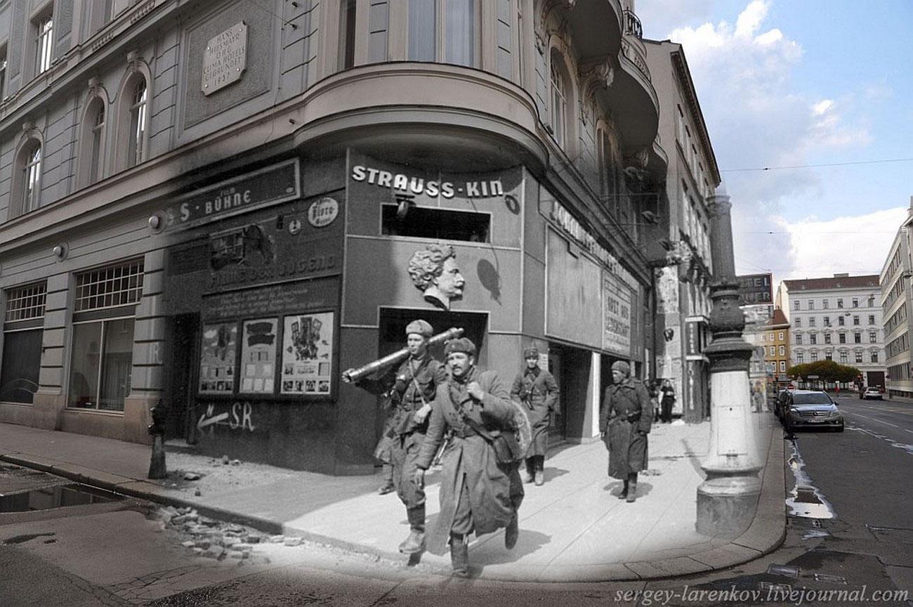 Советские минометчики на улице