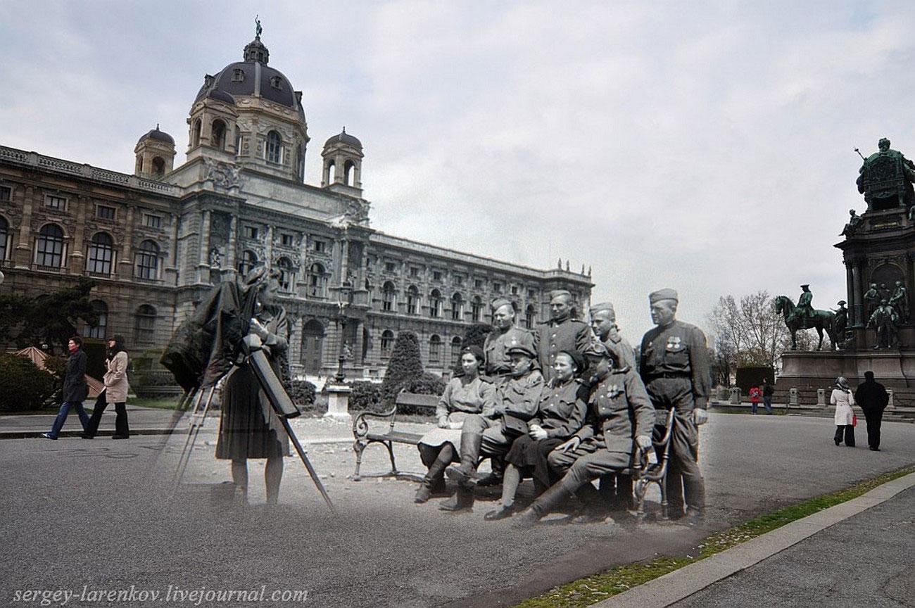 Фотосессия у памятника Марии Терезе