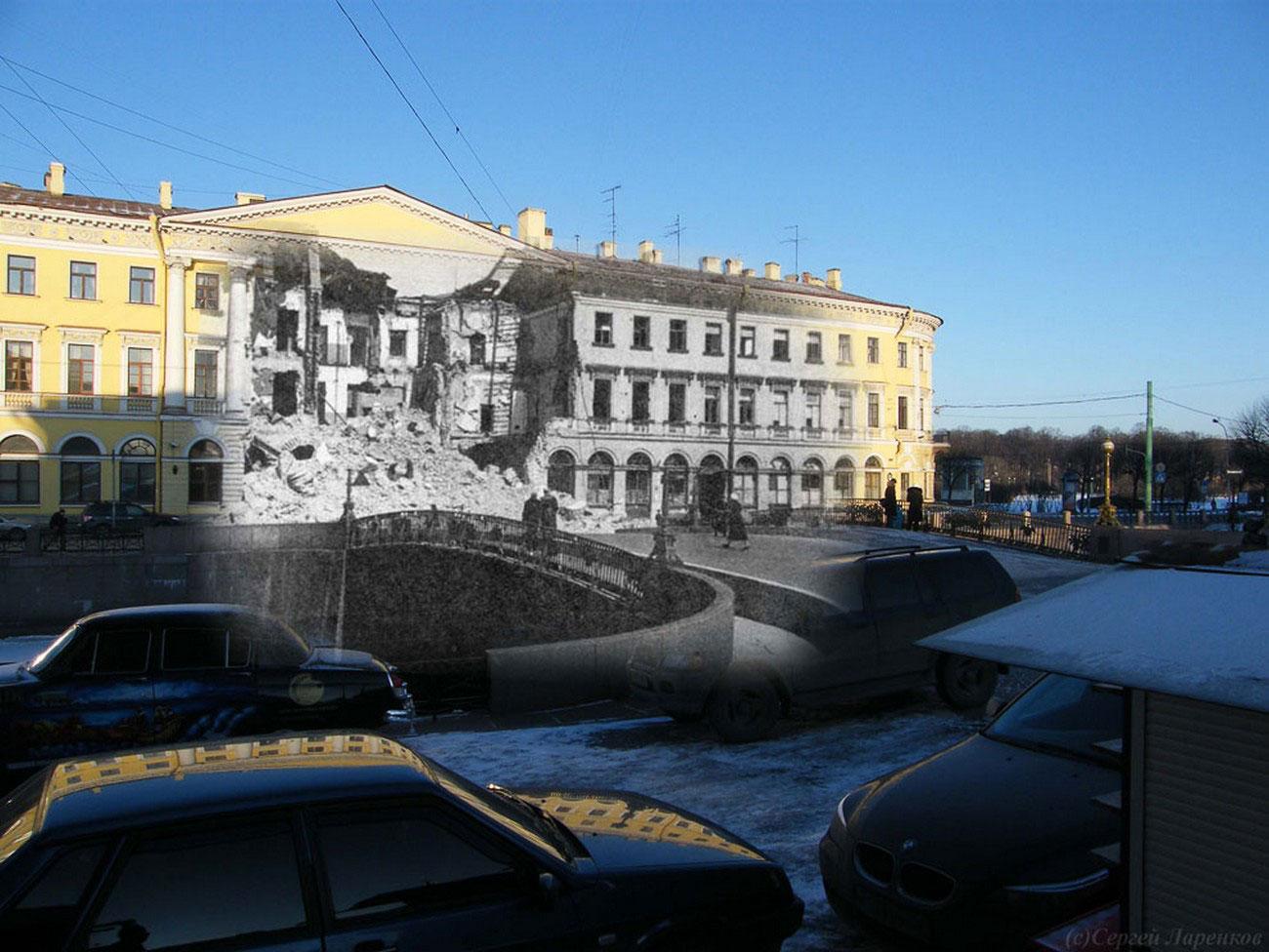Здание пострадавшее от артобстрела