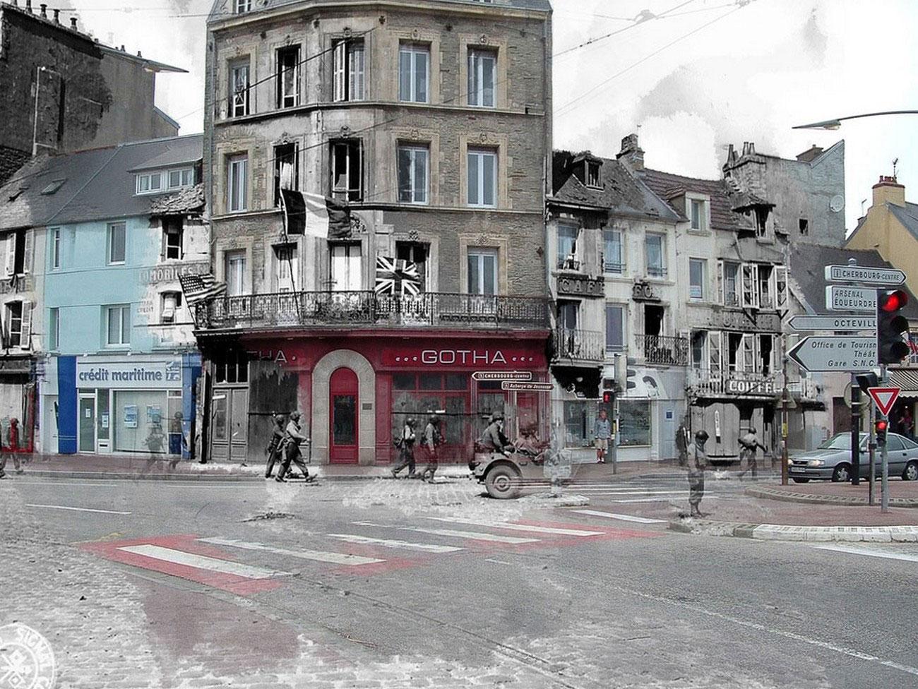 военные на улицах Франции