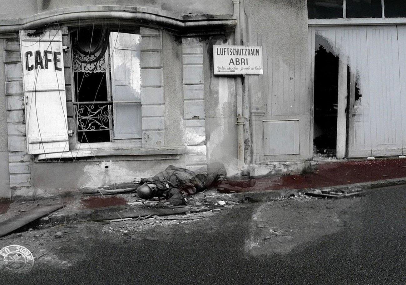 погибший на улицах Нормандии