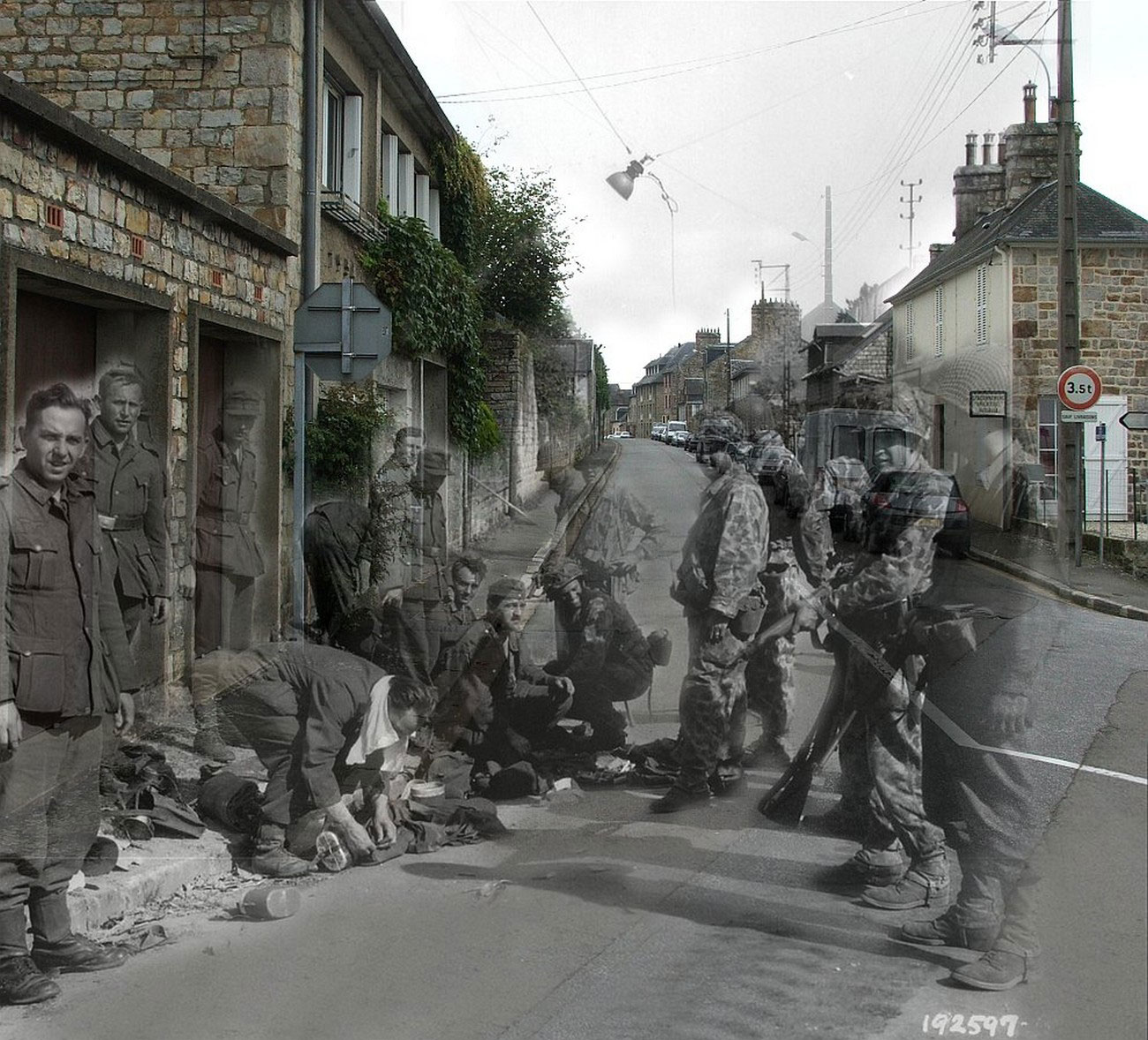 перевал на одной из улиц Франции