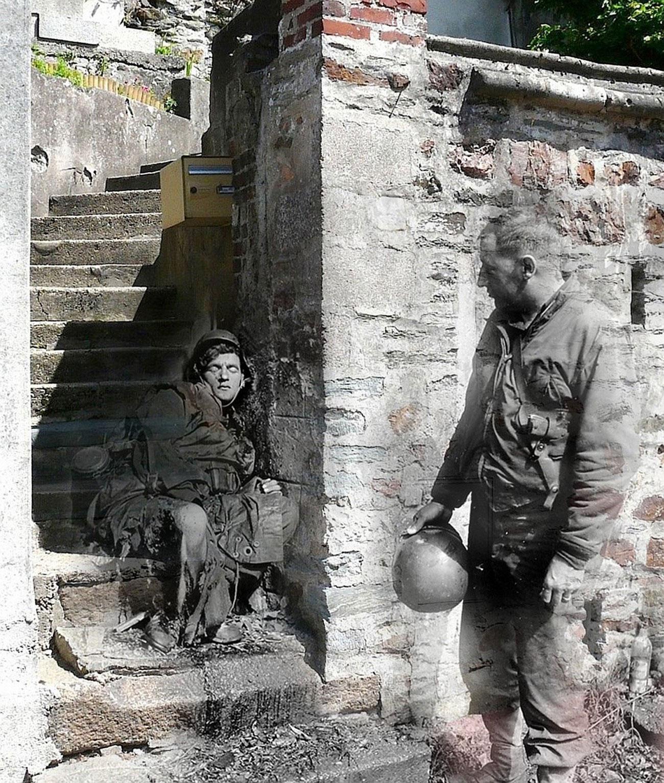 Солдаты в Нормандии