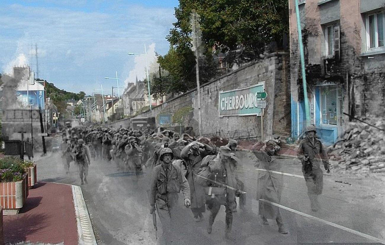 Сопровождение военнопленных в Нормандии
