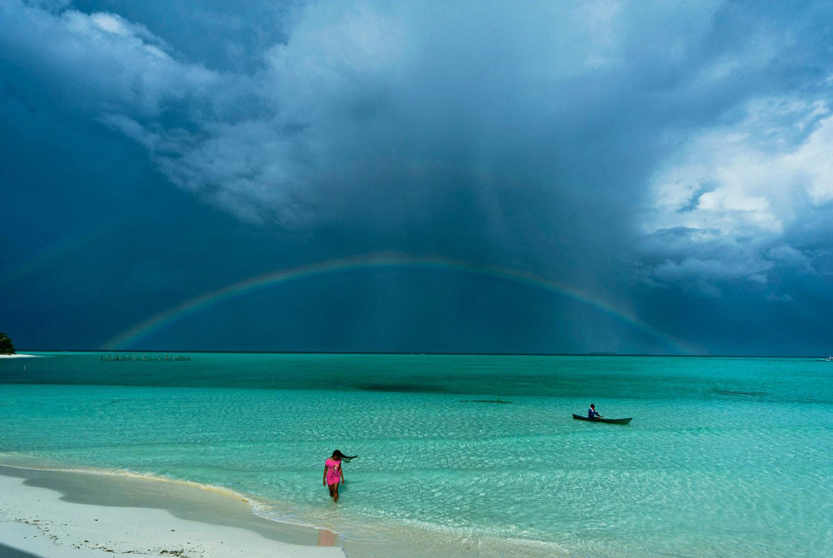 радуга на острове, фото