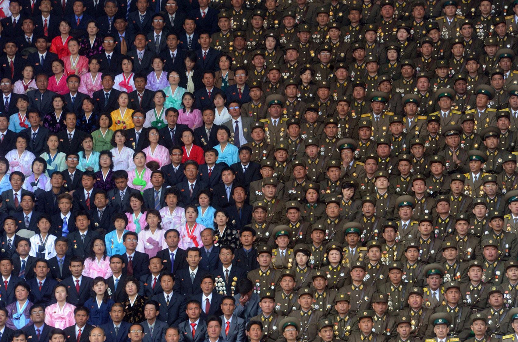 празднование Ким Ир Сена в Пхеньяне