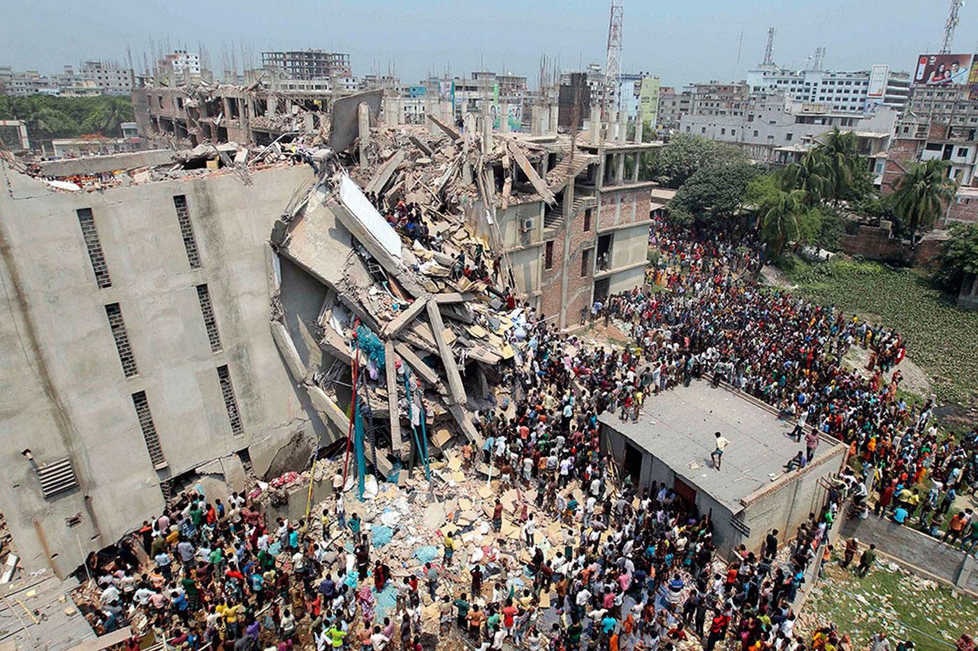 разрушенная фабрика в Бангладеше