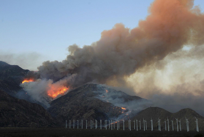пожар на холме