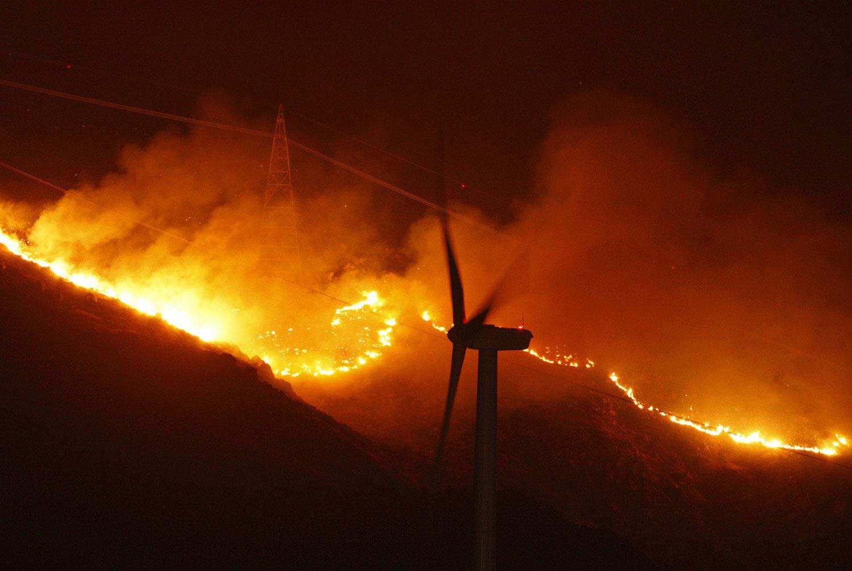пожарище в Калифорнии