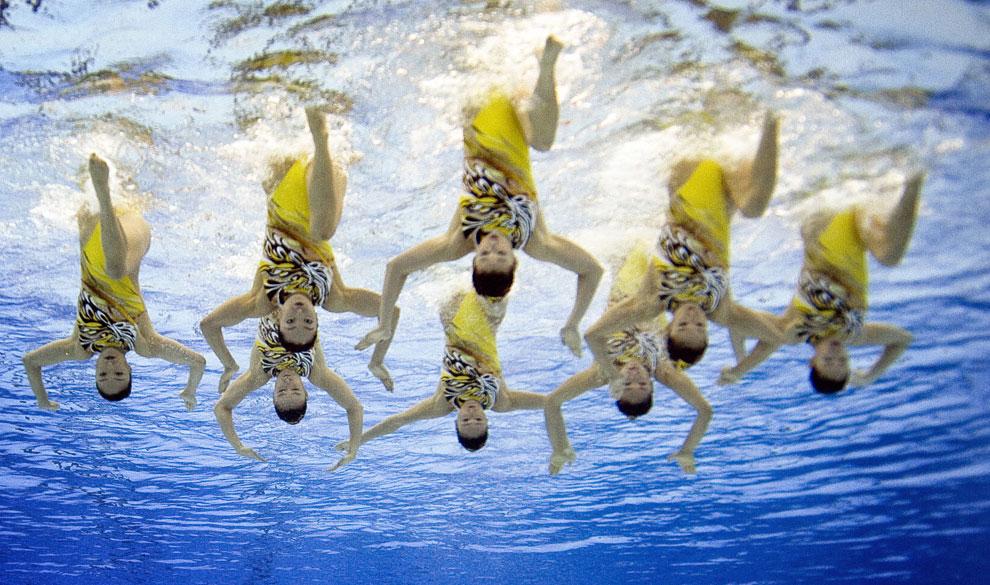 синхронное плаванье Японии, фото
