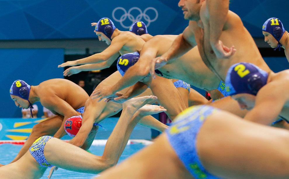 Казахстан против Австралии в водном поло, Лондон 2012