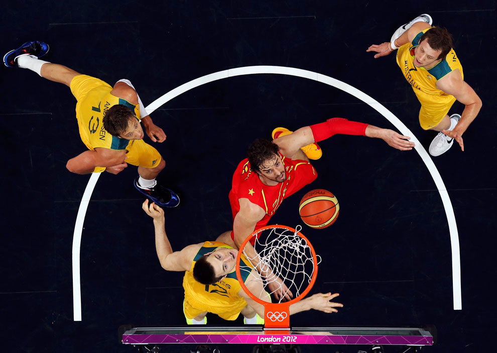 Испанские баскетболисты на олимпиаде, фото