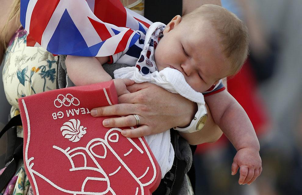 Зрители на олимпийских играх в Англии