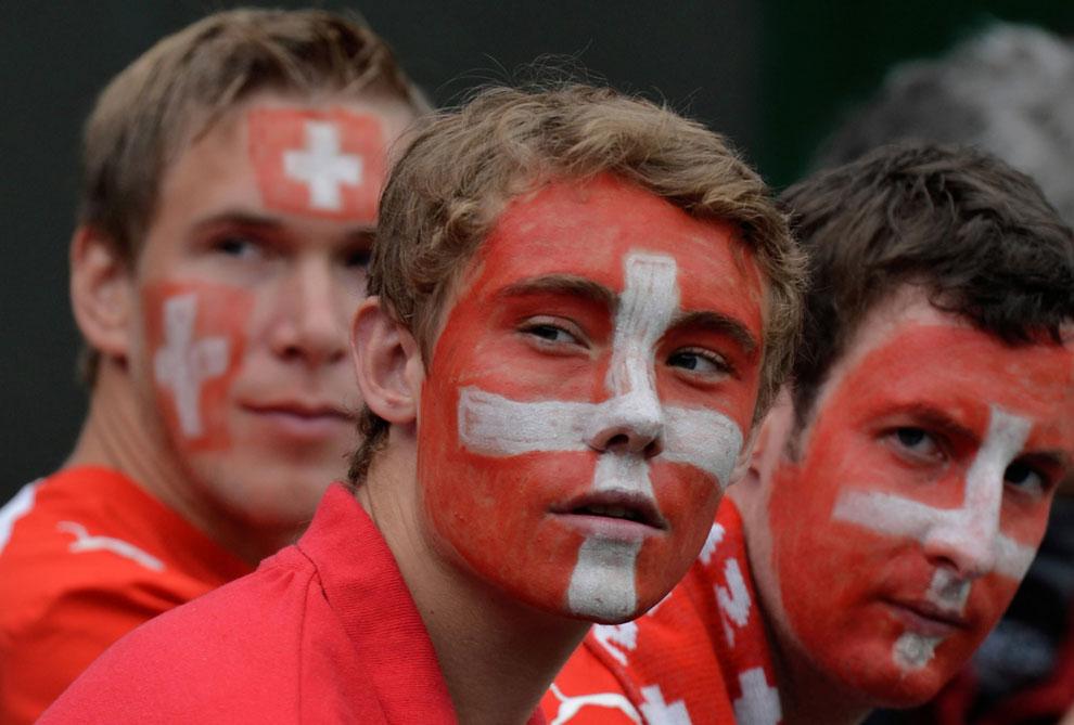 Швейцария в группе поддержки на олимпиаде в Лондоне