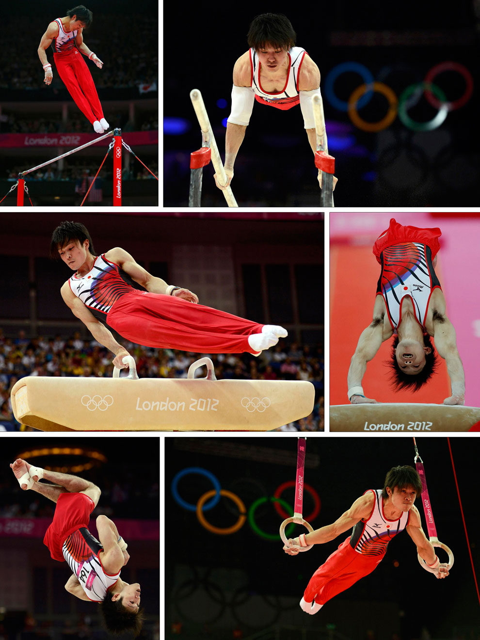 многоборец из Японии в гимнастике на олимпиаде в Англии
