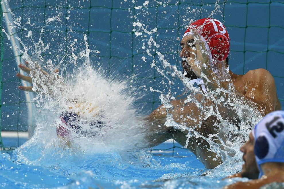 Греция против Казахстана, водное поло, фото
