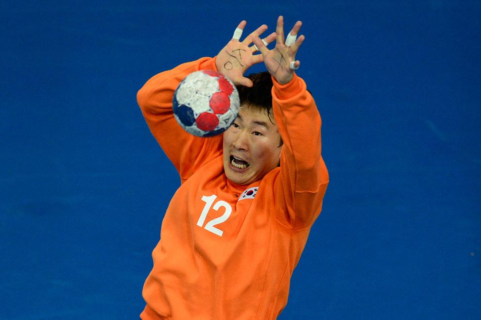 гандбол, Южная Корея против Испании, фото