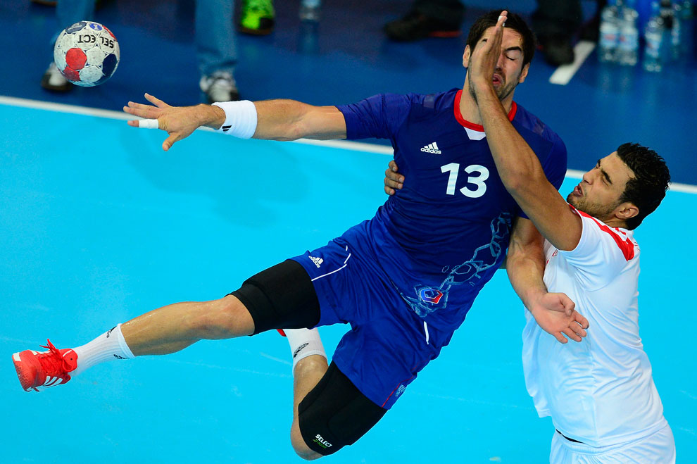 гандбол, Франция против Туниса, фото