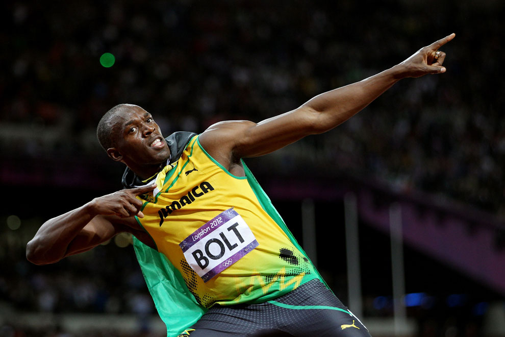 Усэйн Болт увез с олимпиады в Лондоне три золота, фото