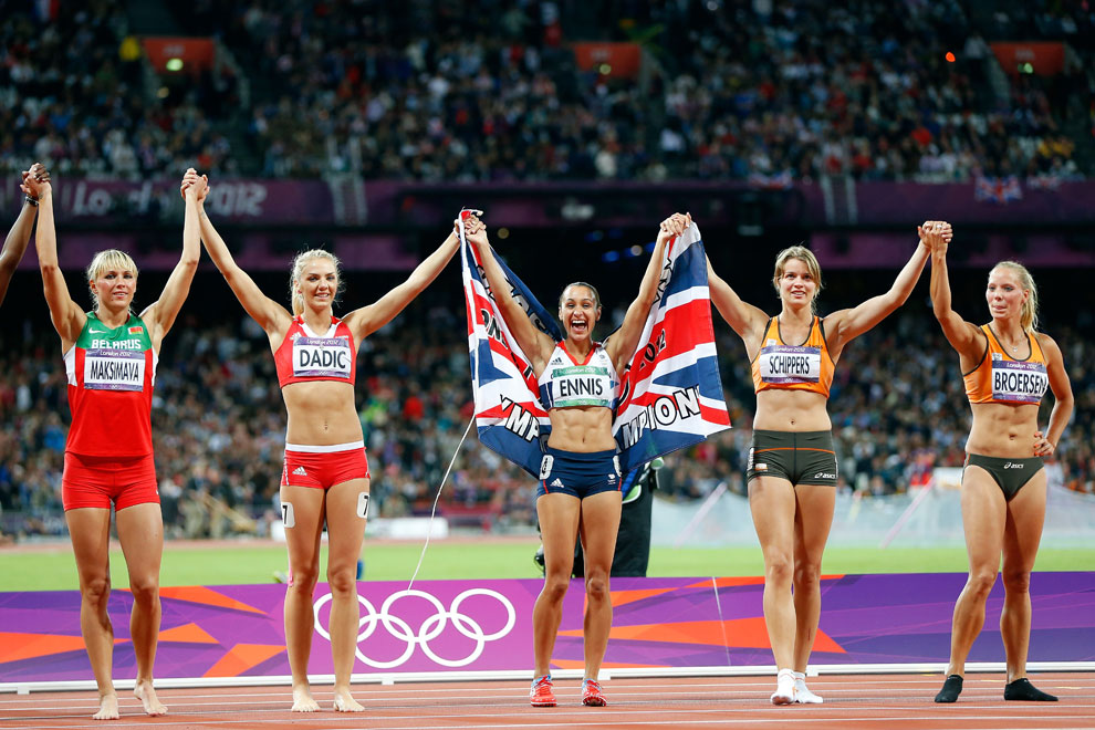 мировой рекорд в семиборье на дистанции 100 метров с барьерами на олимпиаде, фото