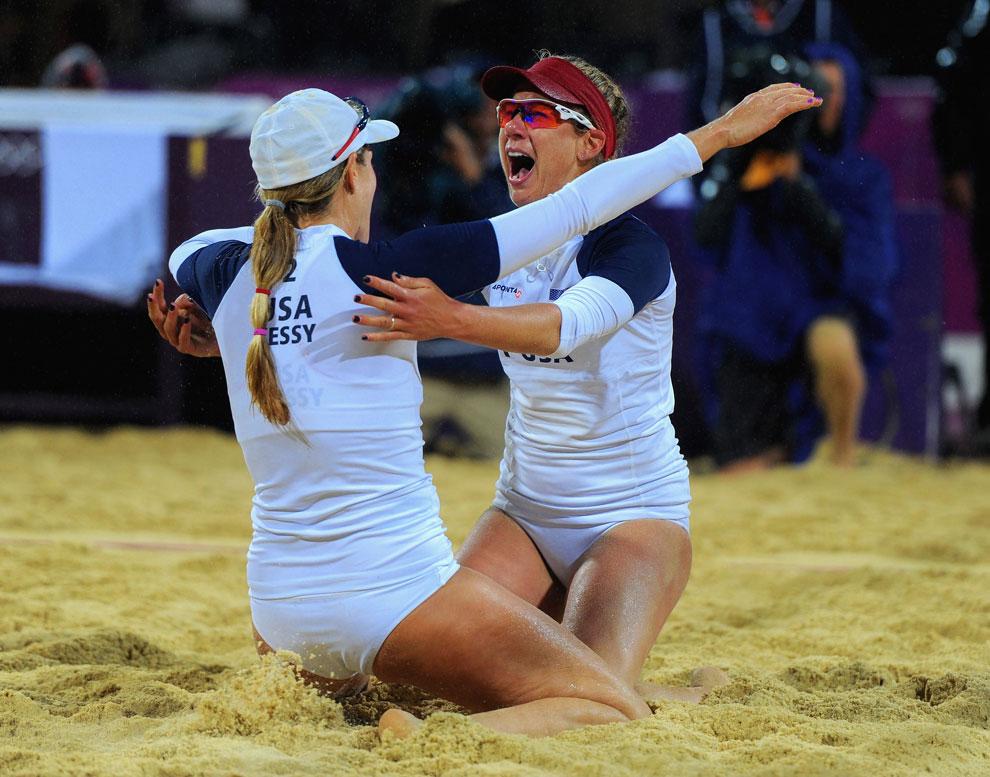 Женский пляжный волейбол на олимпиаде, фото