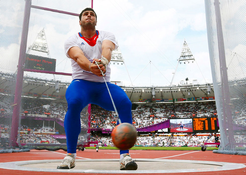 метание молота на олимпиаде в Лондоне, фото