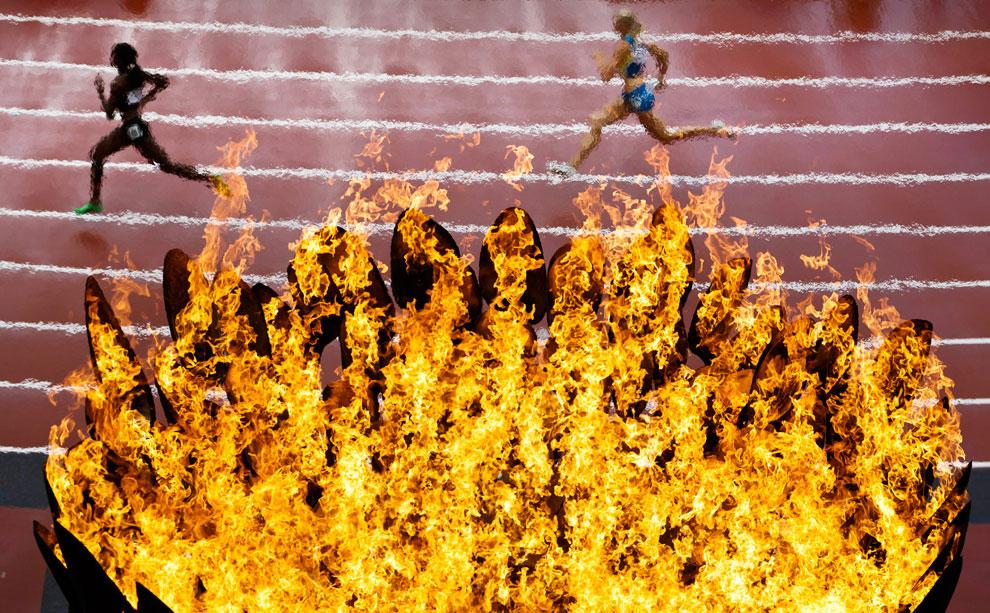 Олимпийский огонь, фото