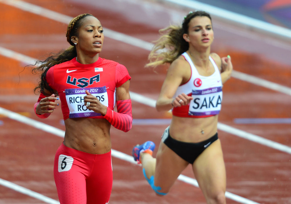 бег на 400 метров на олимпиаде в Англии, фото