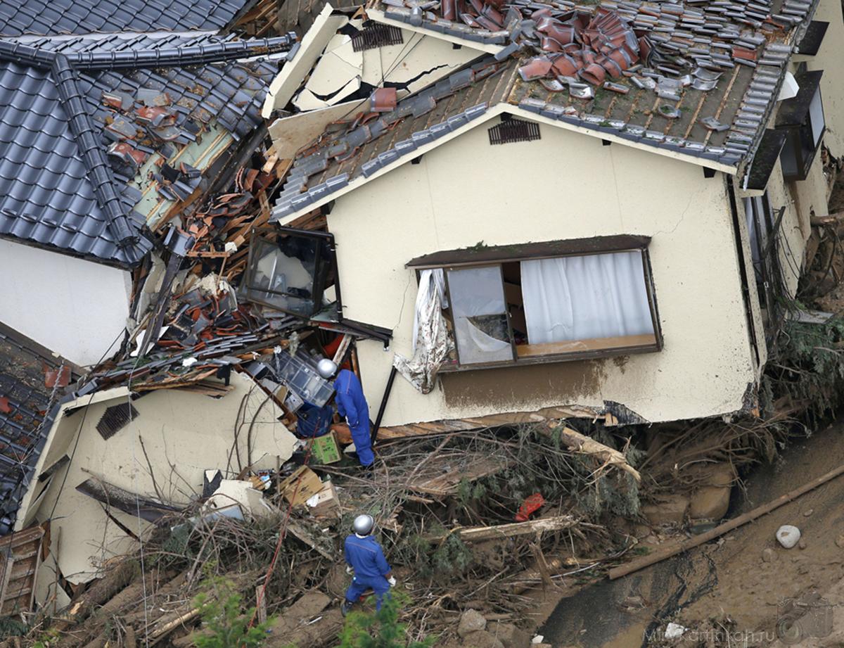 разрушенные районы Хиросимы