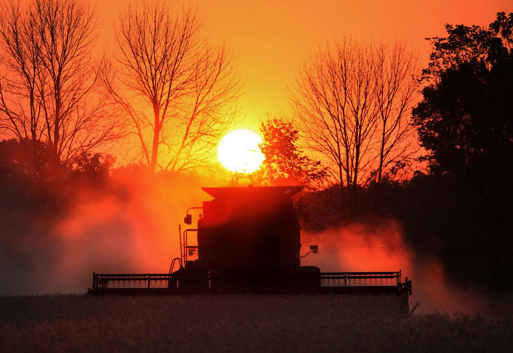 сбор урожая в штате Огайо