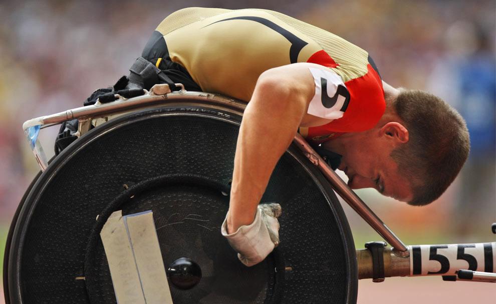 бег на 400 метров на паралимпиаде в Пекине